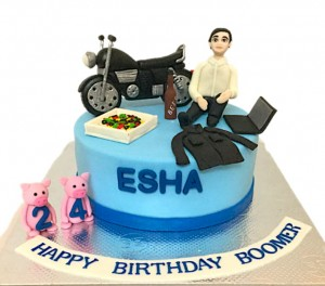 Happy 24th Biker Birthday Cake