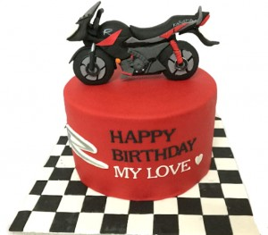 My Love Karizma Bike- Birthday Cake