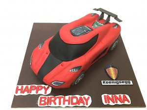 Inna's SuperCar Birthday Cake