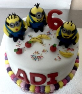 Minion Cake 6th Birthday  1 kg