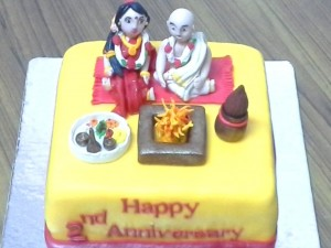 Family pooja themed cake 1.5kg