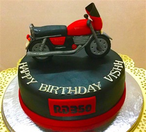 Birthday Cake - 350cc Bike Cake