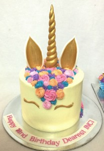 Happy Birthday Unicorn theme Buttercream Cake