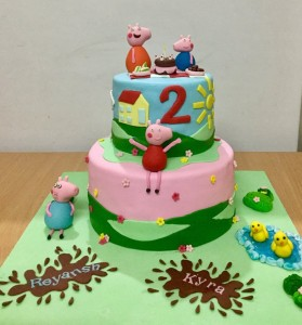 2nd Birthday Peppa pig cake