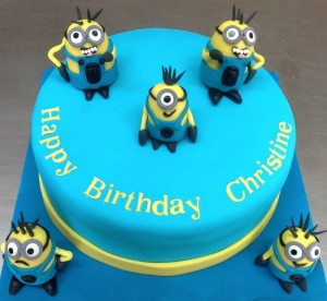 Five Minions Birthday Cake