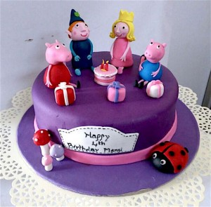 Ben and Holly with Peppa Pig Cake 1.5 kg