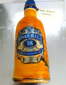 Birthday Cake Chivas Regal Theme