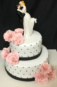 Peach Flower Wedding Cake 2.5kg