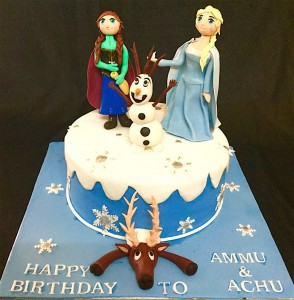 Frozen theme Birthday Cake for Ammu & Achu