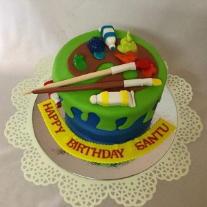 Birthday Cake Painting Artist