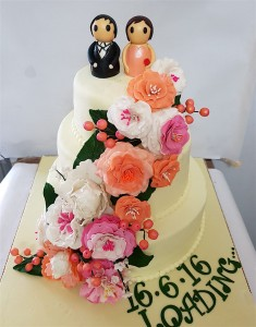 3 tier Floral Anniversary Cake 6 kg