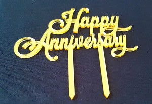 Wedding Anniversary Cake Topper  022