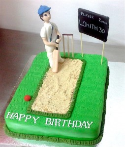 Cricket Theme 30th Birthday Cake 1 Kg