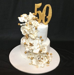 50th Birthday Celebration Customized Cake