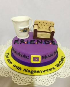 Customized Birthday Cake Friends theme