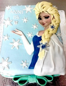 Anni's  Frozen Birthday Cake