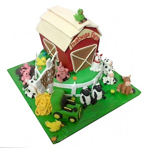 Isabella Farm Theme Birthday Cake