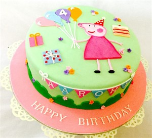 2D Peppa Pig Birthday Cake