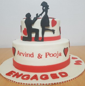 Engagement Cakes Customized Delivered In Bangalore I Miras
