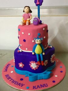 Kanu's Dora theme Birthday cake
