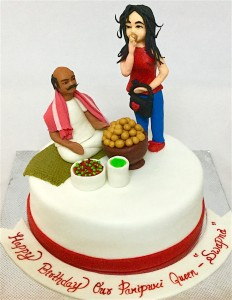 Happy Birthday Gol Gappa Theme Cake