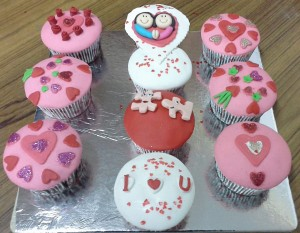 Valentine CupCakes - Set of 10