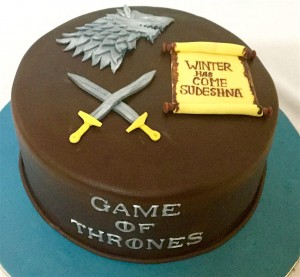Winter has Come- GOT Birthday Cake