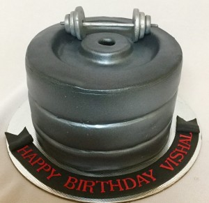 Vishal Gym theme Birthday Cake
