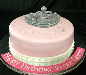 Our Queen Tiara Birthday Cake
