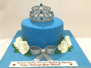 Happy Birthday Cake Blue Tiara