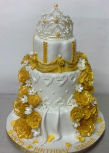 3 Tier Princess Tiara Cake