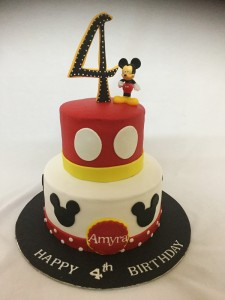 4th Birthday Amyra's Mickey cake