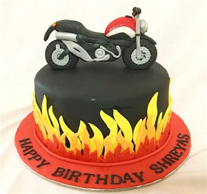 Birthday Cake - Love To Ride Bike Cake