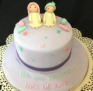 Twins Baby Shower Cake - 1 kg
