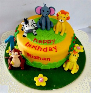 Rishans Animal Theme  Cake- 1  kg