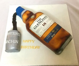 The Whisky Party Birthday Cake