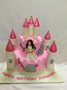 Birthday Cake for Little Princess- Pink Castle Theme