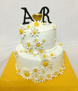 A & R Engagement Cake