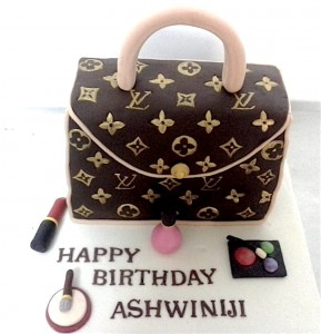 Happy Birthday  LV Bag Cake