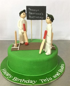 Cricket theme Birthday Cake for Brothers