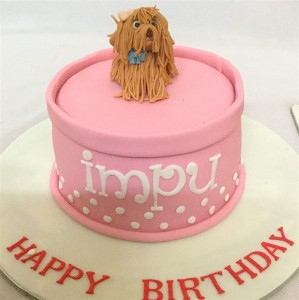 Beautiful Birthday Cake- Cute Little Doggy