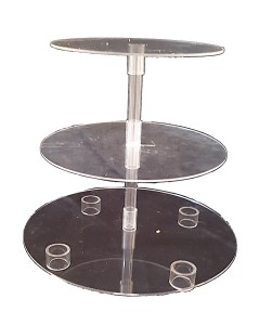 Cake Stand - 3 Tier Acrylic Cake Stand