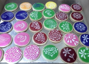 Floral design  Cookies -Set of 20