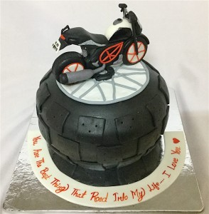 Enjoy The Ride Bike Cake 1.5 kg