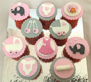 Baby Shower Cup Cakes - 10 nos