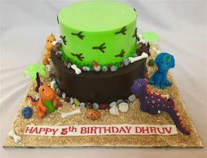 Dinosaur Theme Birthday Cream Cake 25 Kg