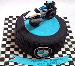 Blue bike Customized Birthday Cake