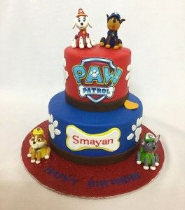 Paw patrol 2 tier Birthday cake