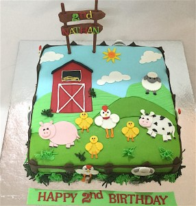 Nathan's Farm Animal Cake- 1.5  kg