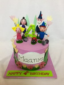 Ben and Holly Customized Birthday Cake